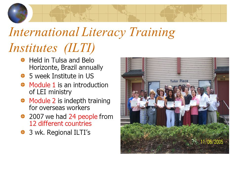 International Literacy Training Institutes (ILTI)