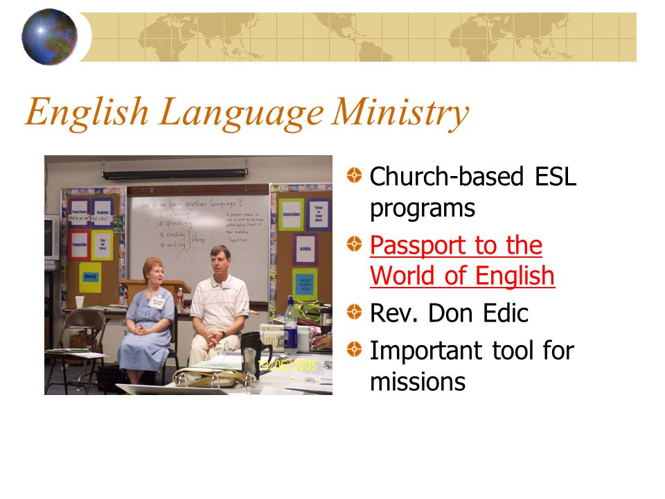 English Language Ministry