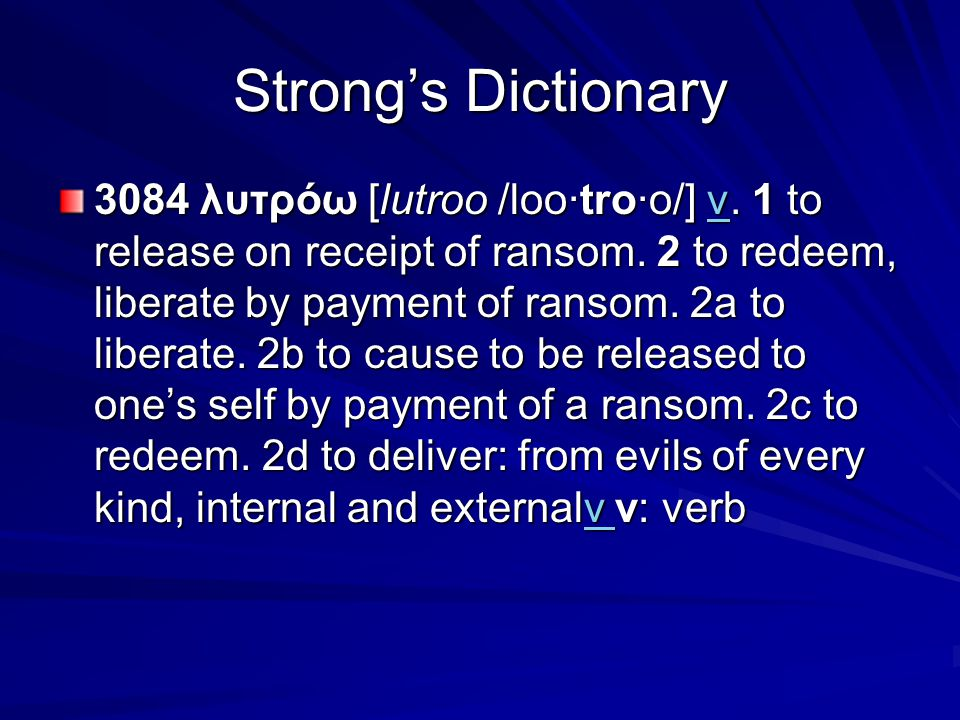 Strong's Dictionary