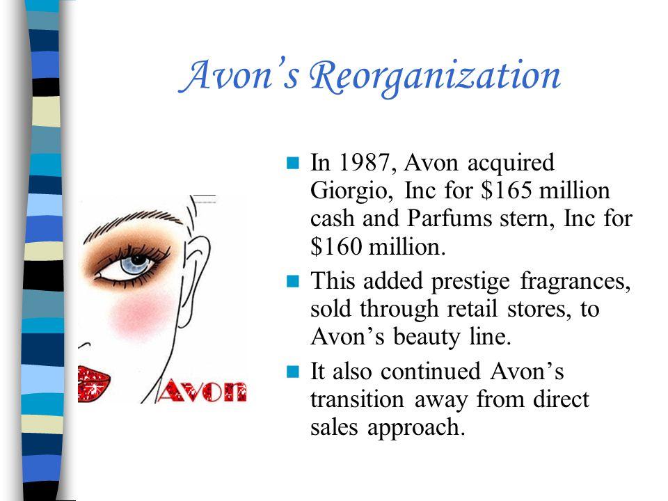 Avon's Reorganization