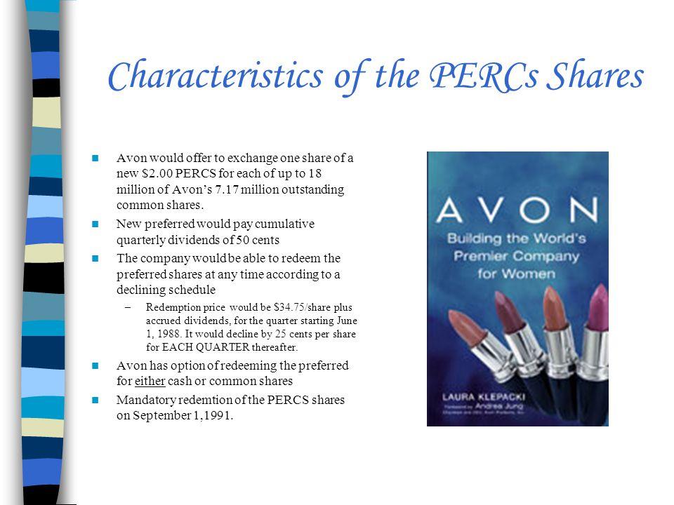 Characteristics of the PERCs Shares