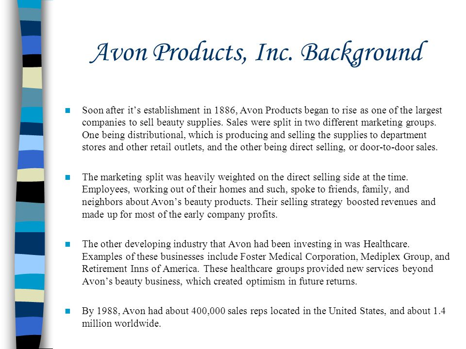 Avon Products, Inc. Background