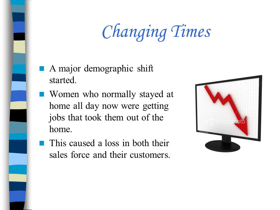 Changing Times A major demographic shift started.