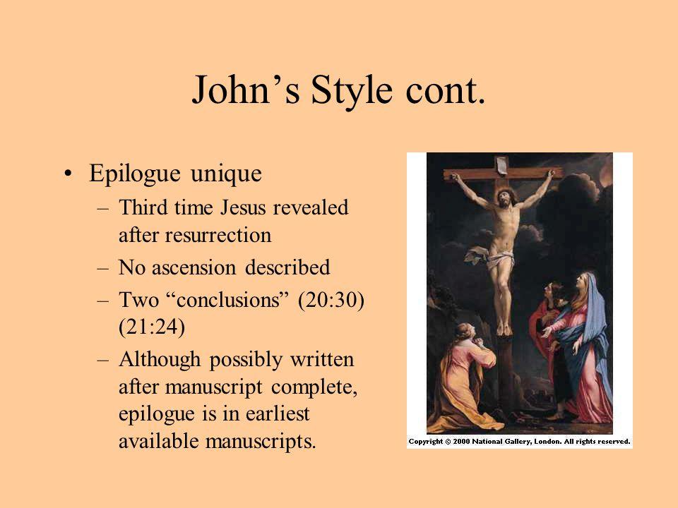 John's Style cont. Epilogue unique