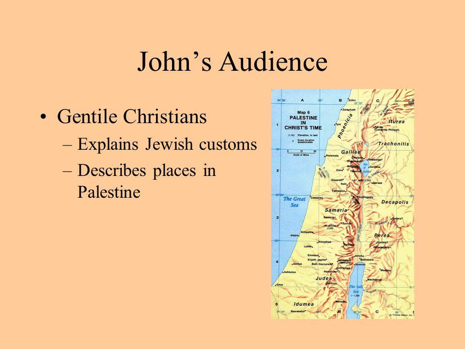 John's Audience Gentile Christians Explains Jewish customs