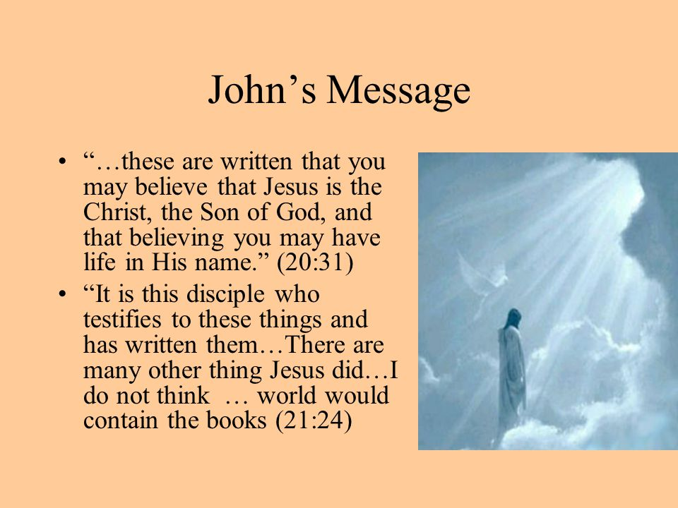 John's Message