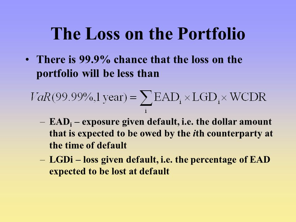 The Loss on the Portfolio
