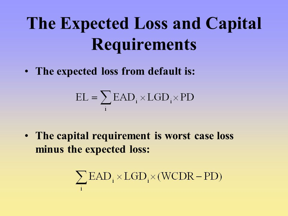 The Expected Loss and Capital Requirements