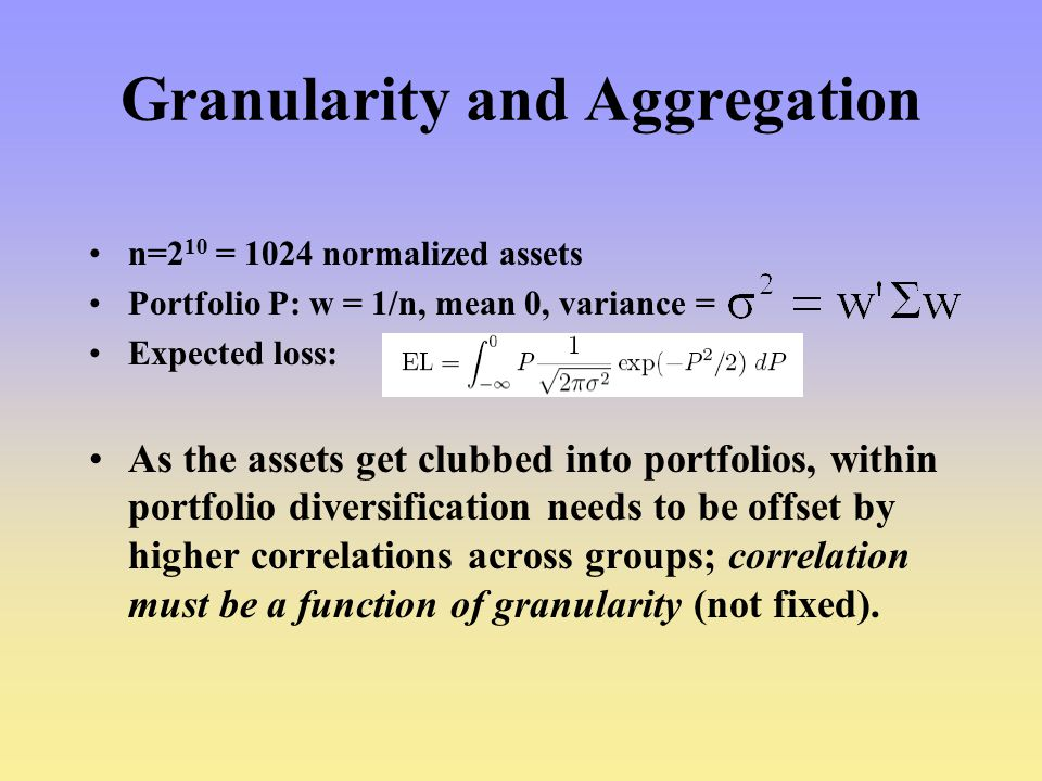 Granularity and Aggregation