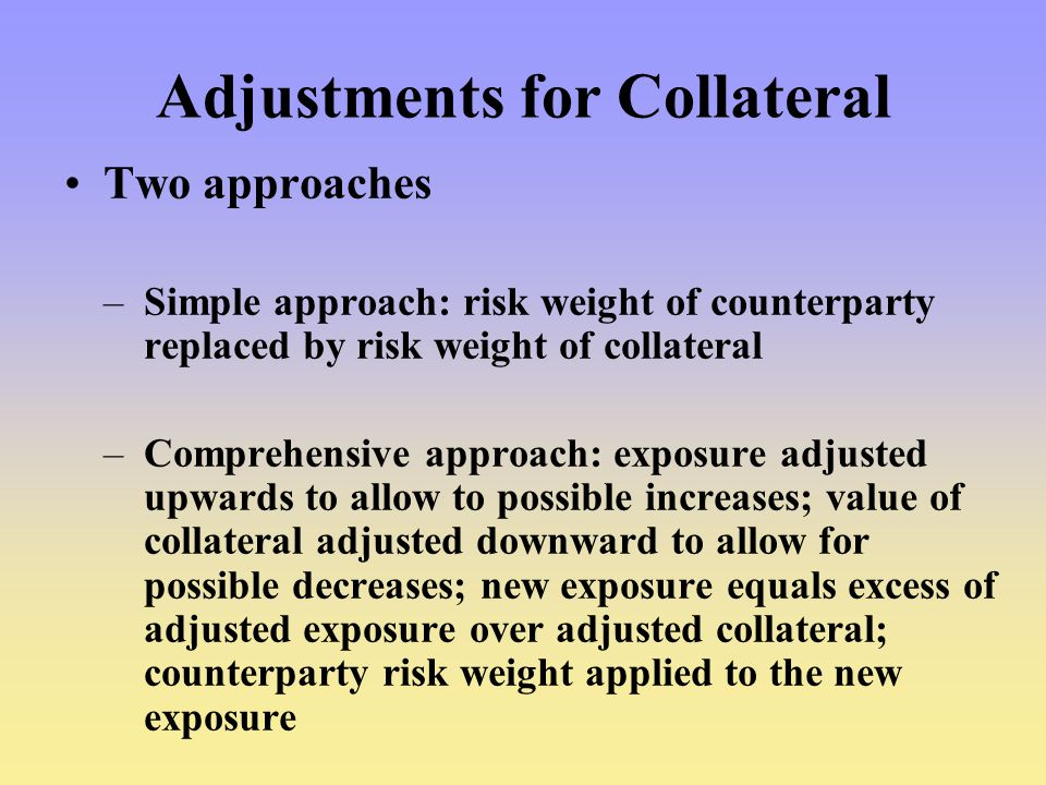 Adjustments for Collateral