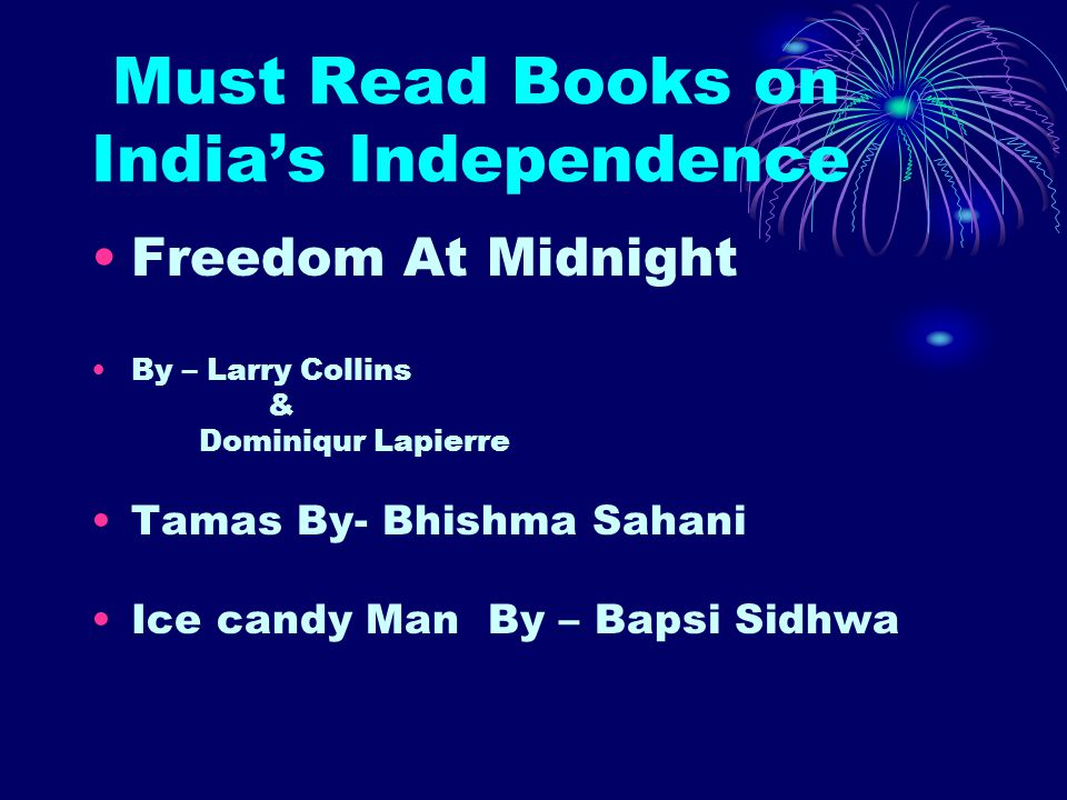 Must Read Books on India's Independence