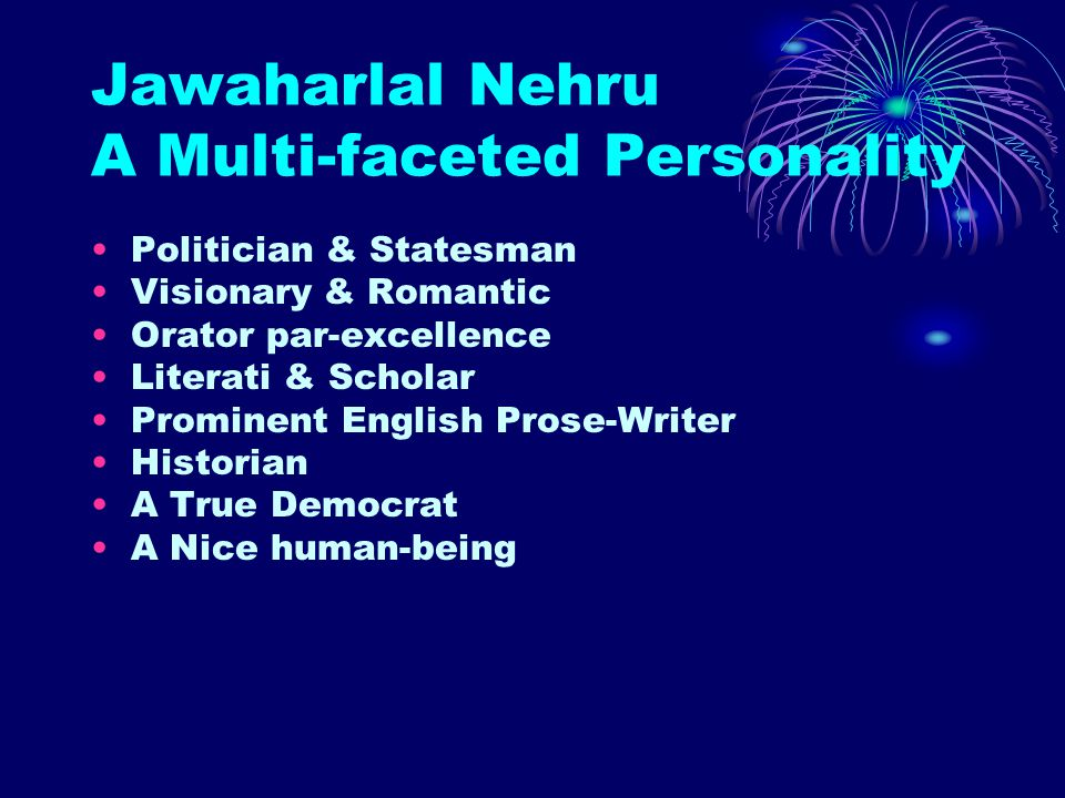Jawaharlal Nehru A Multi-faceted Personality