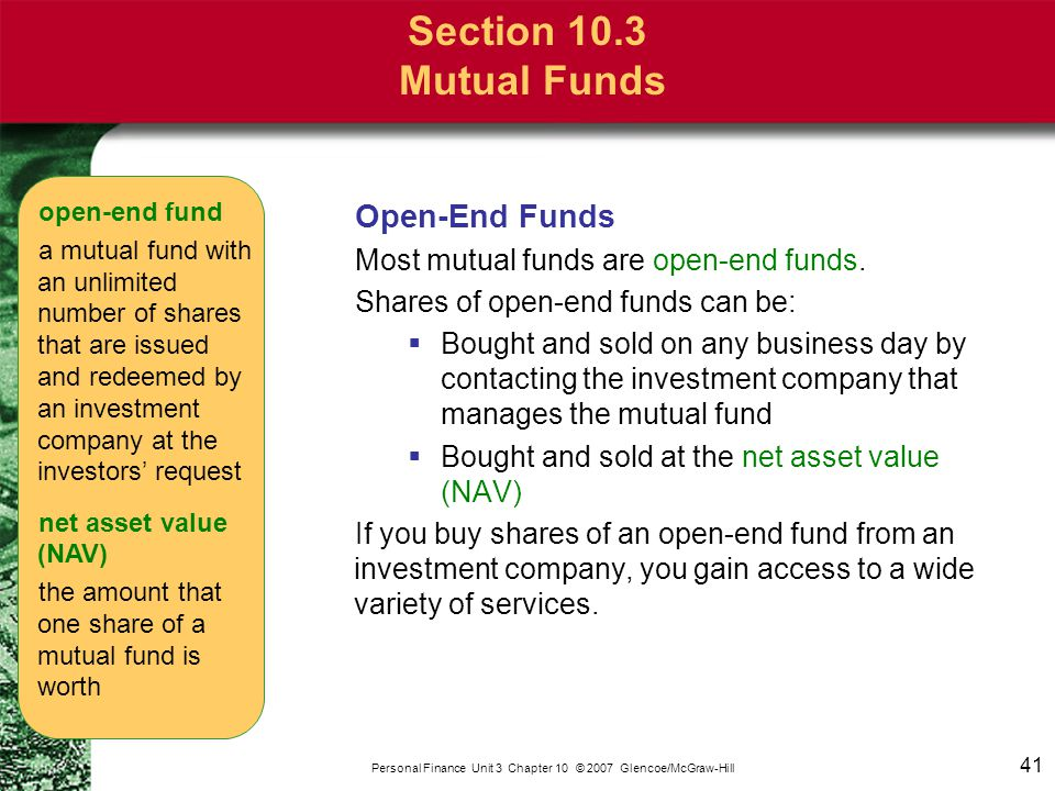 Section 10.3 Mutual Funds Load Funds