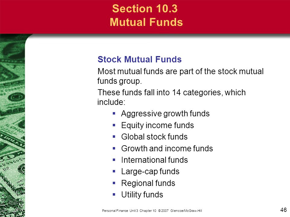 Section 10.3 Mutual Funds Bond Mutual Funds