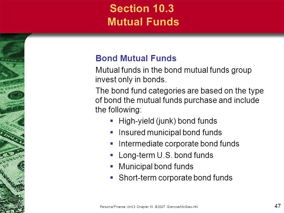 Section 10.3 Mutual Funds Mixed Mutual Funds