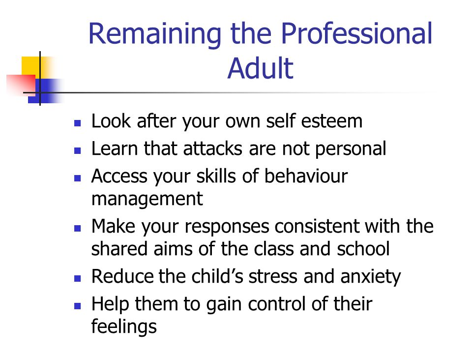 Remaining the Professional Adult