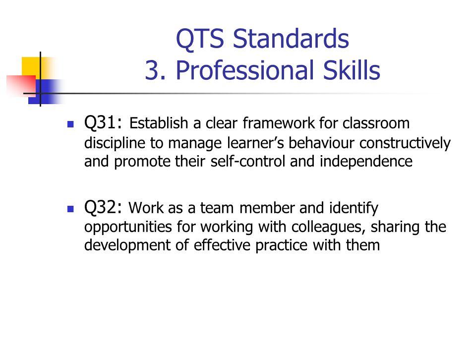 QTS Standards 3. Professional Skills