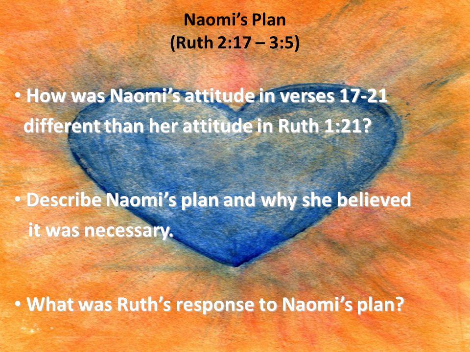 Naomi's Plan (Ruth 2:17 – 3:5)