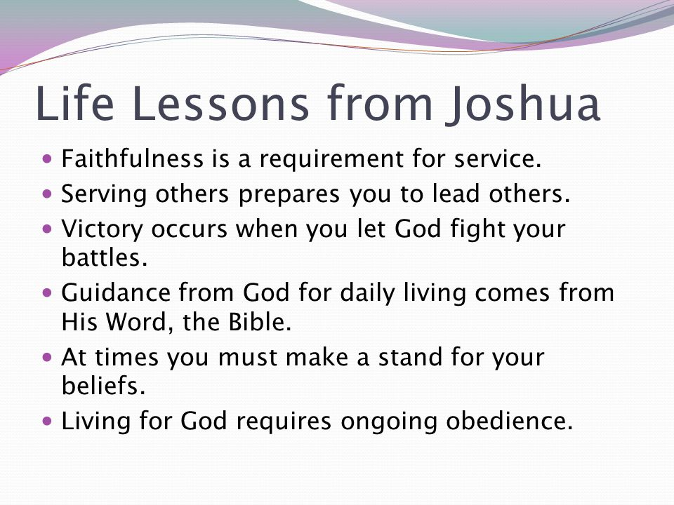 Life Lessons from Joshua