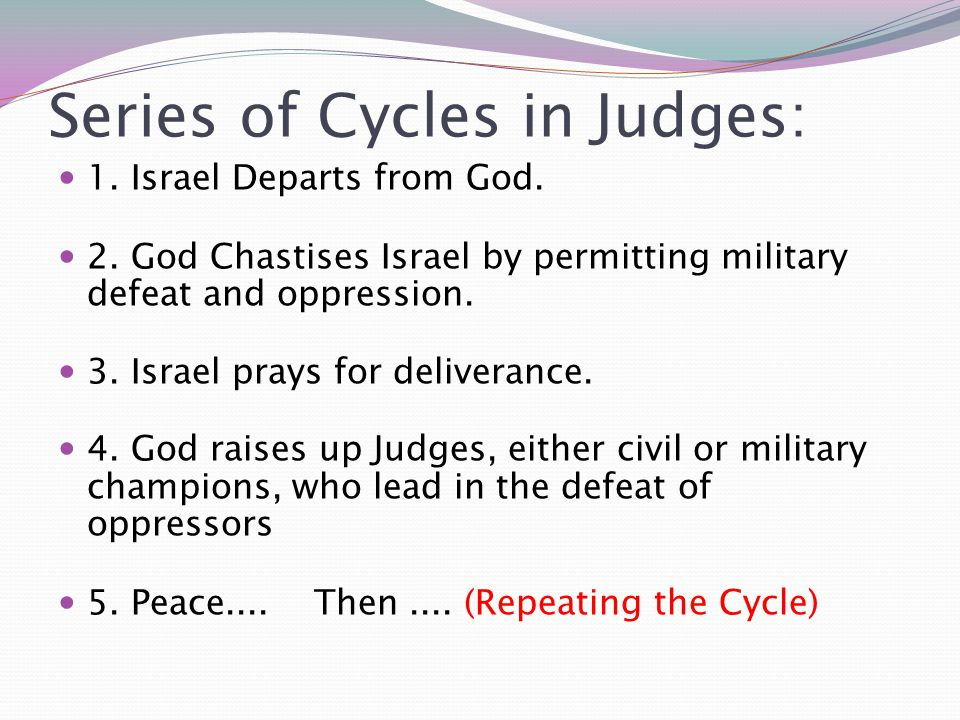 Series of Cycles in Judges:
