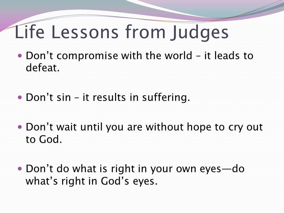 Life Lessons from Judges