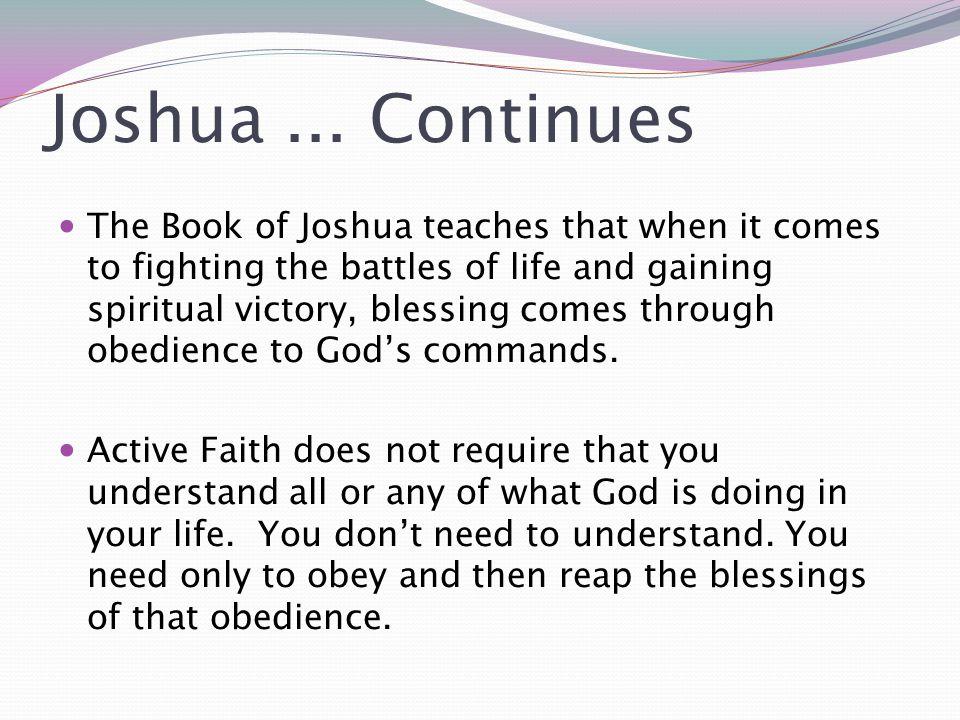 Joshua ... Continues