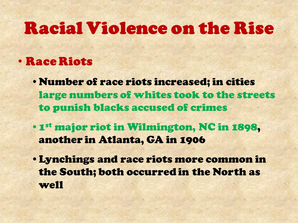 Racial Violence on the Rise