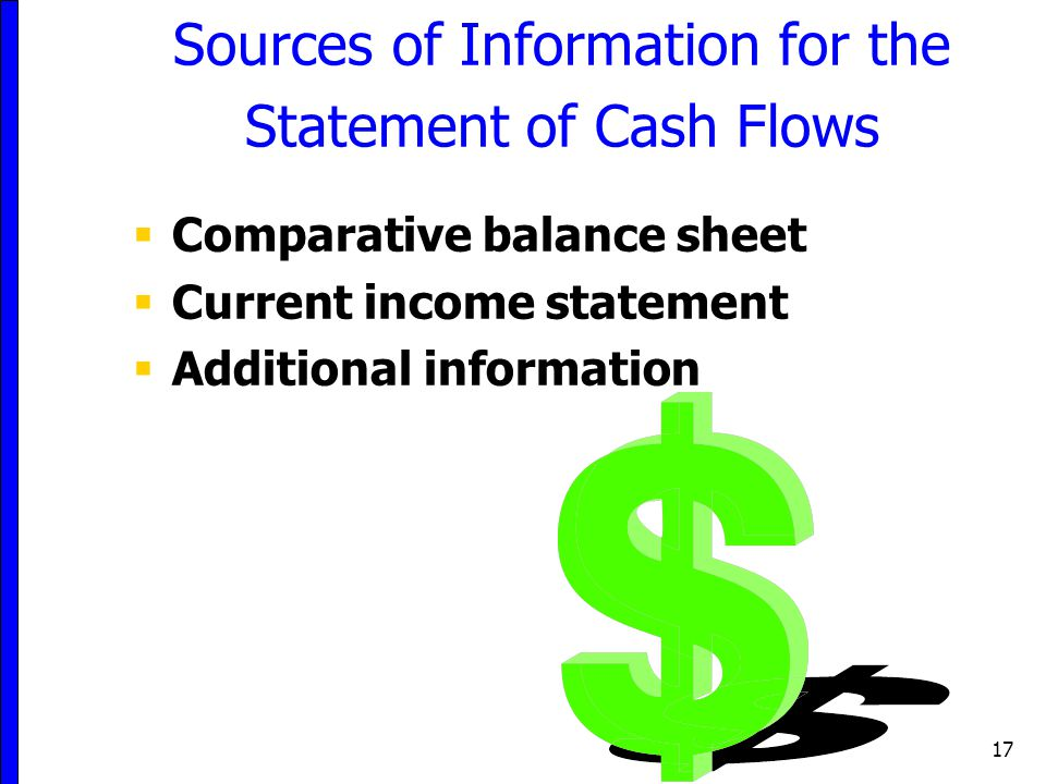 Sources of Information for the Statement of Cash Flows