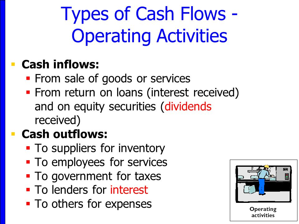 Types of Cash Flows - Operating Activities