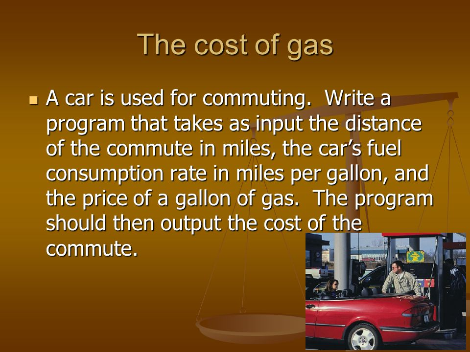 The cost of gas