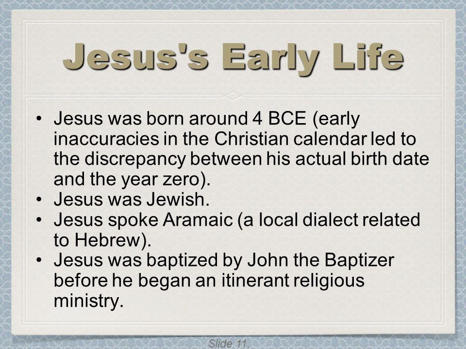 Jesus s Early Life