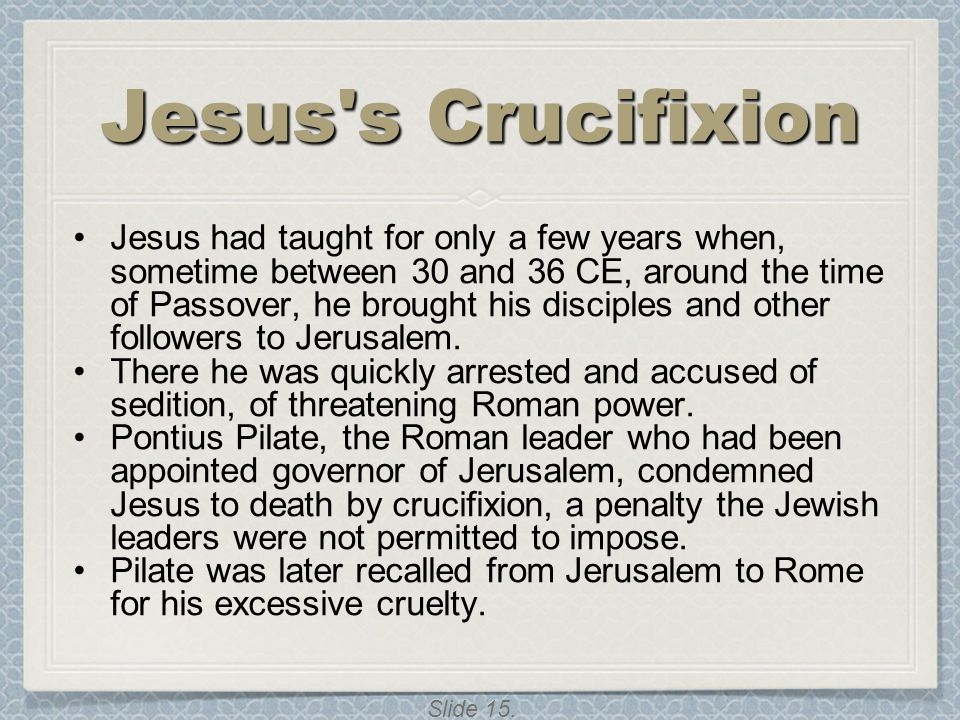 Jesus s Crucifixion