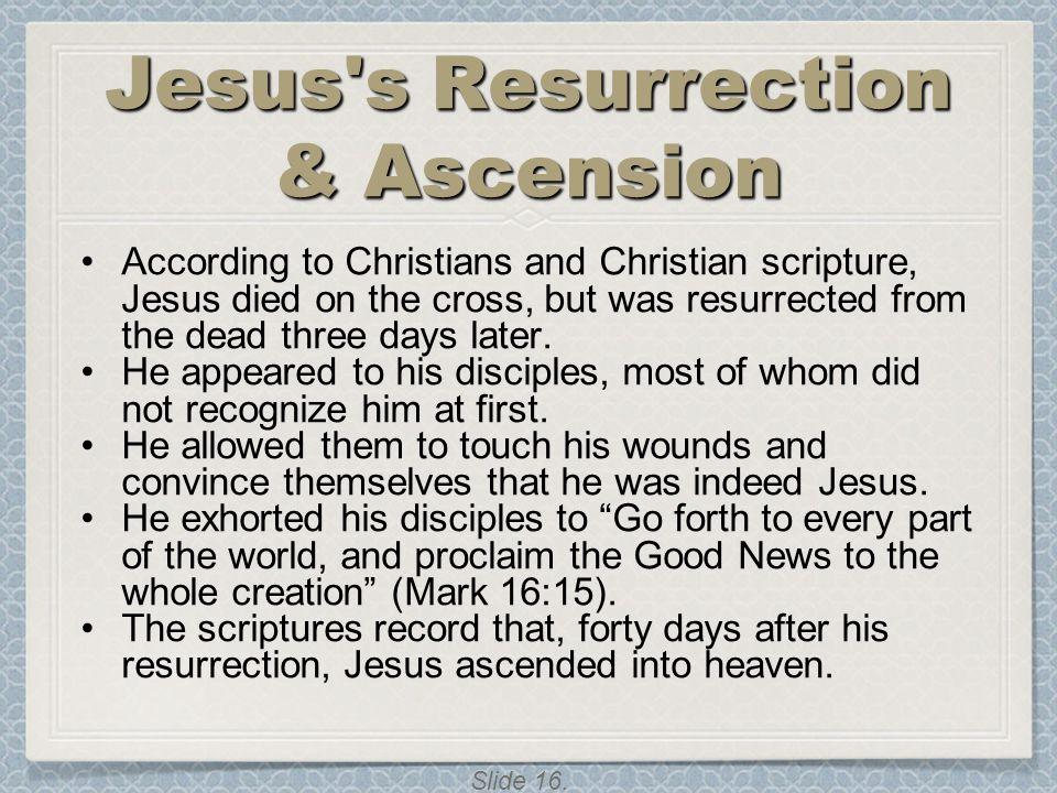 Jesus s Resurrection & Ascension