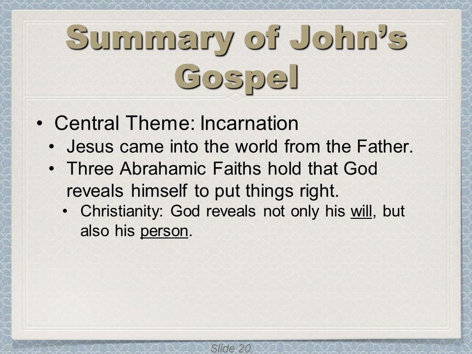 Summary of John's Gospel