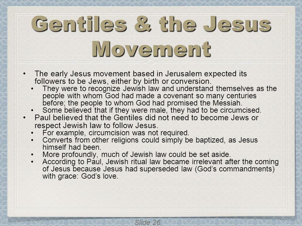 Gentiles & the Jesus Movement