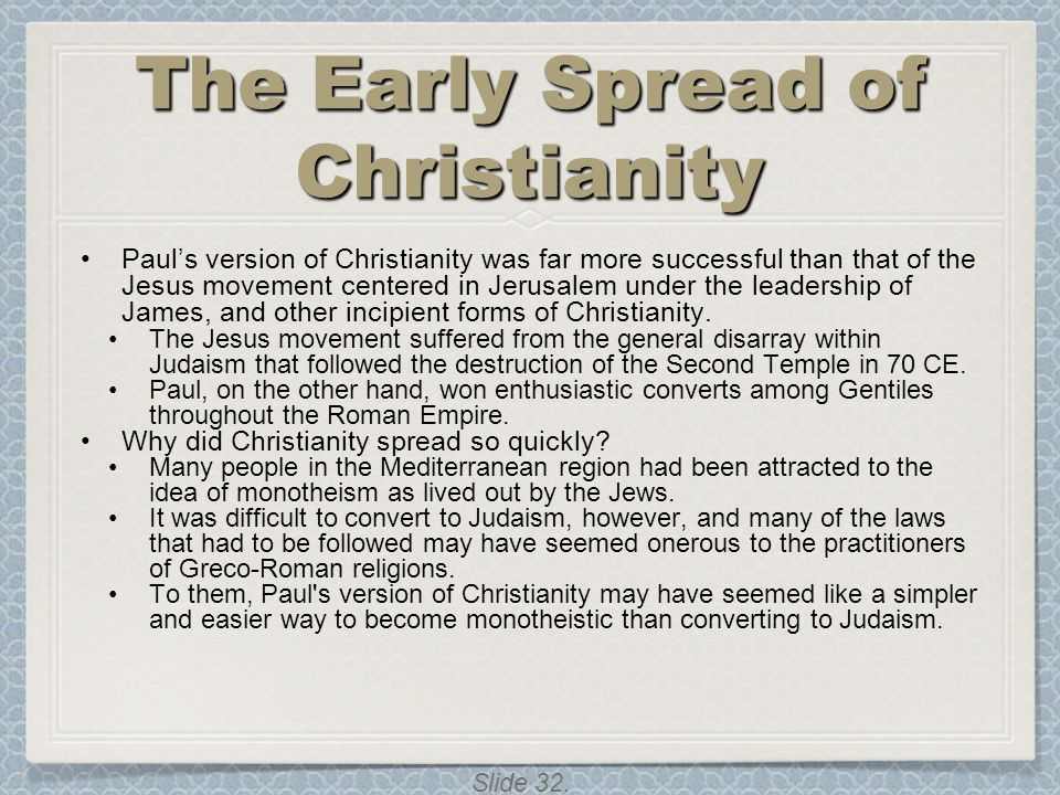 The Early Spread of Christianity