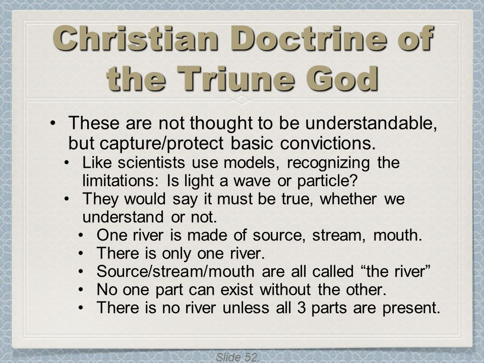 Christian Doctrine of the Triune God
