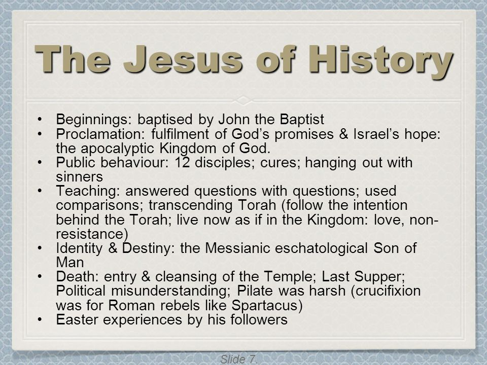 The Jesus of History Beginnings: baptised by John the Baptist