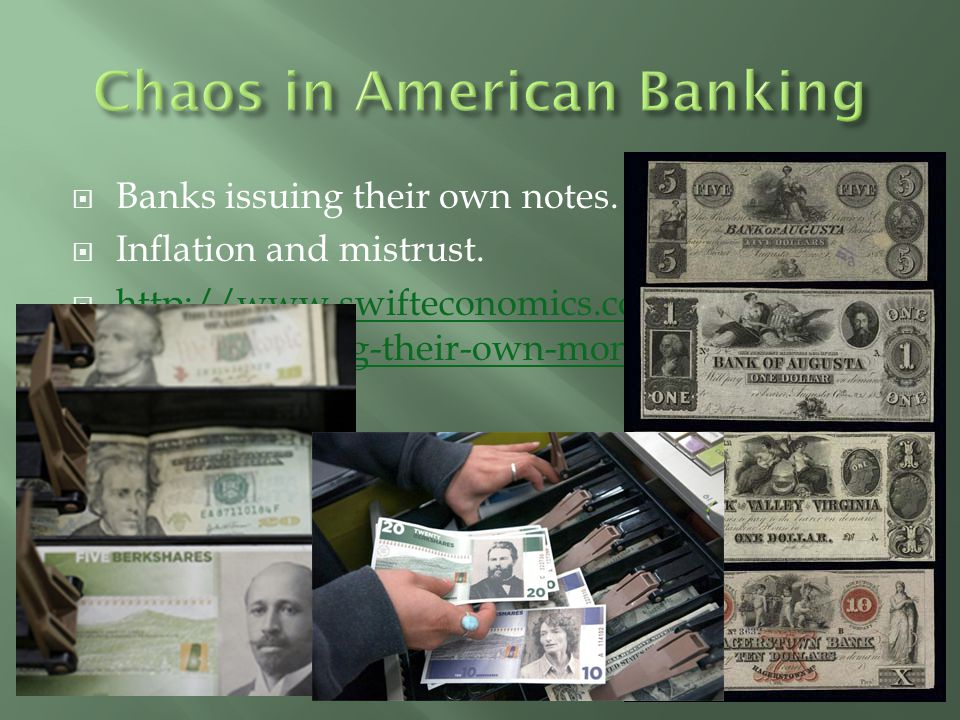 Chaos in American Banking