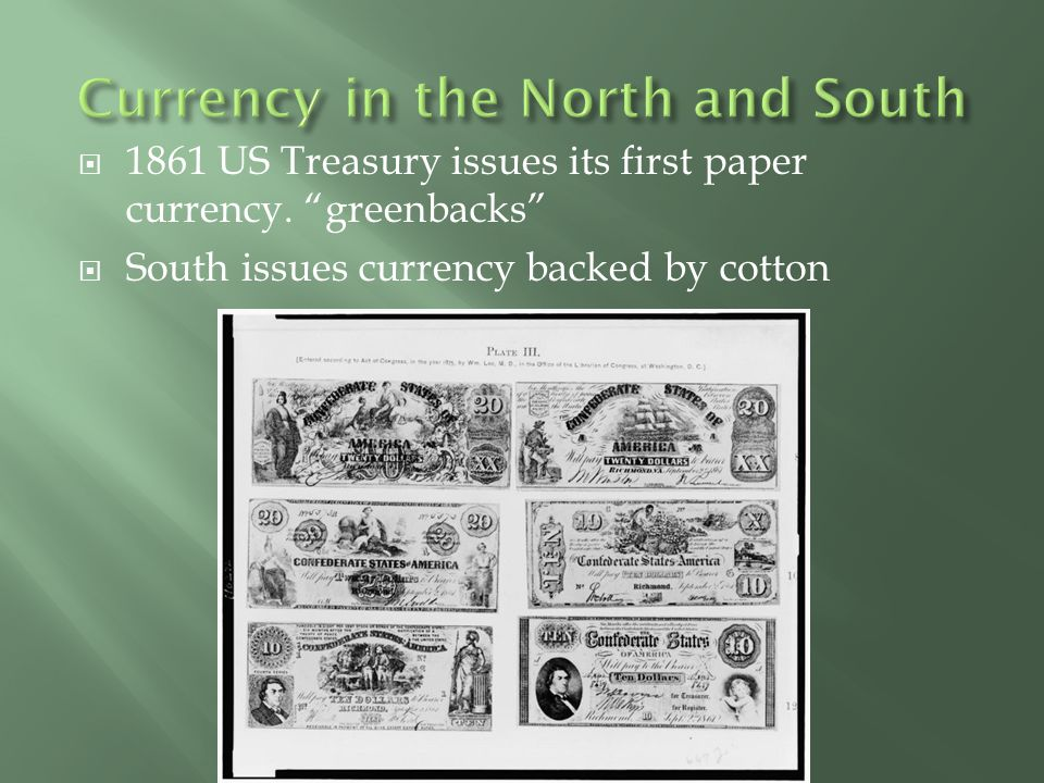 Currency in the North and South