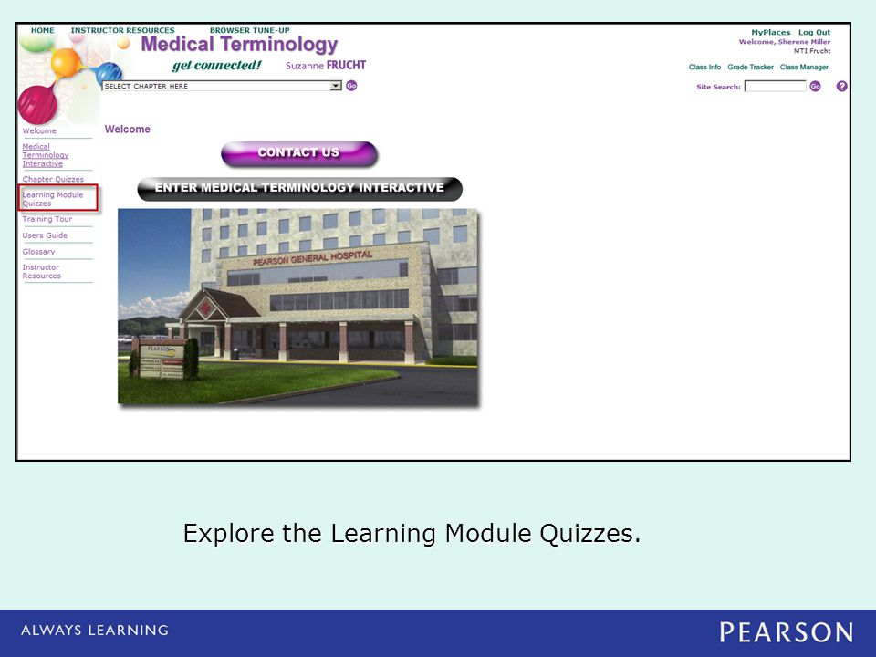 Explore the Learning Module Quizzes.