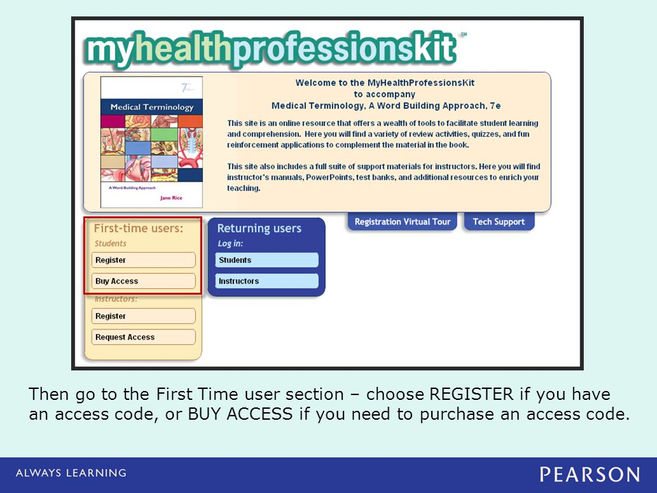 Then go to the First Time user section – choose REGISTER if you have