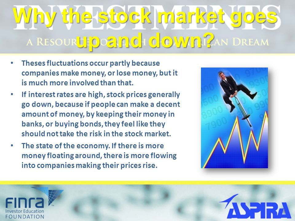 Why the stock market goes up and down