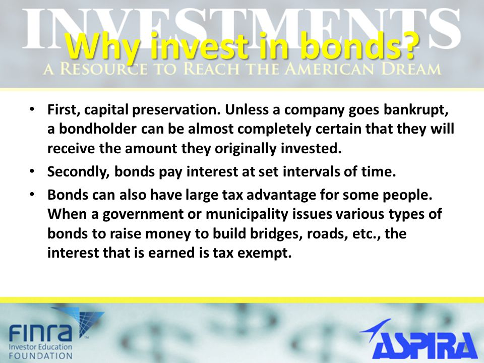 Why invest in bonds