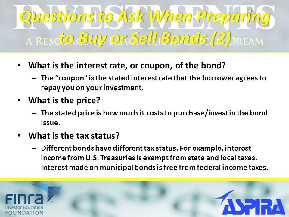 Questions to Ask When Preparing to Buy or Sell Bonds (2)