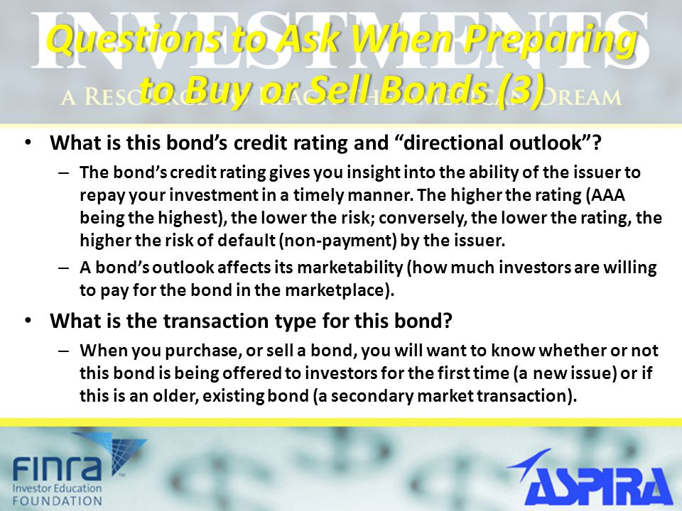 Questions to Ask When Preparing to Buy or Sell Bonds (3)