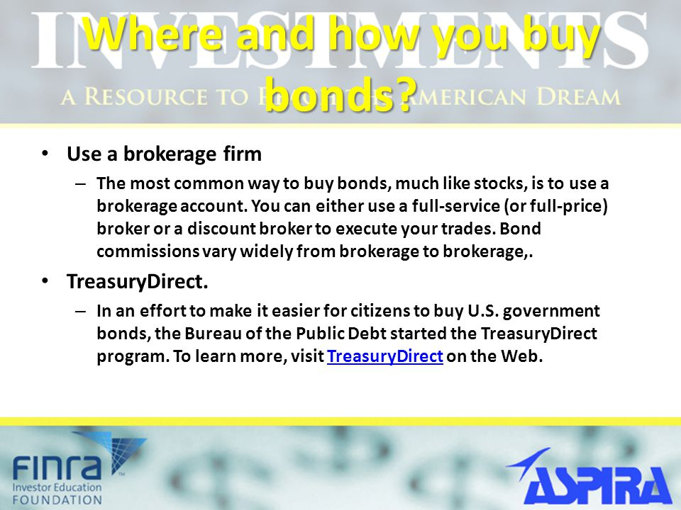 Where and how you buy bonds