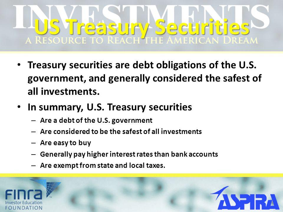 US Treasury Securities