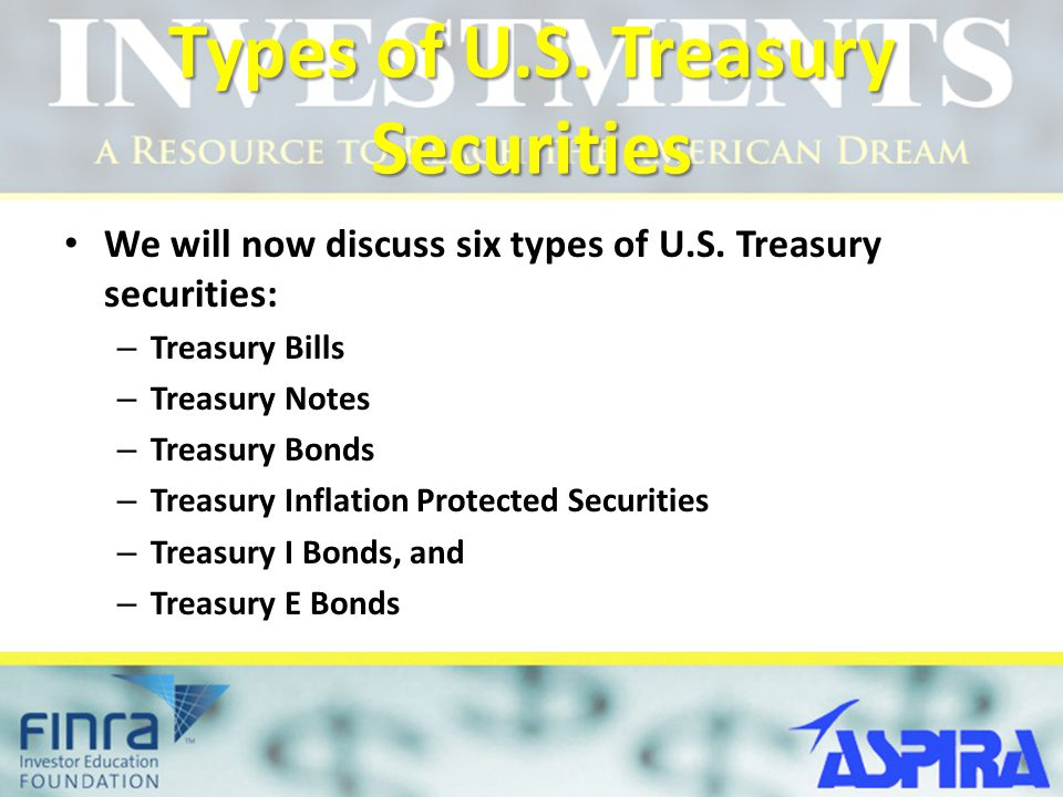 Types of U.S. Treasury Securities