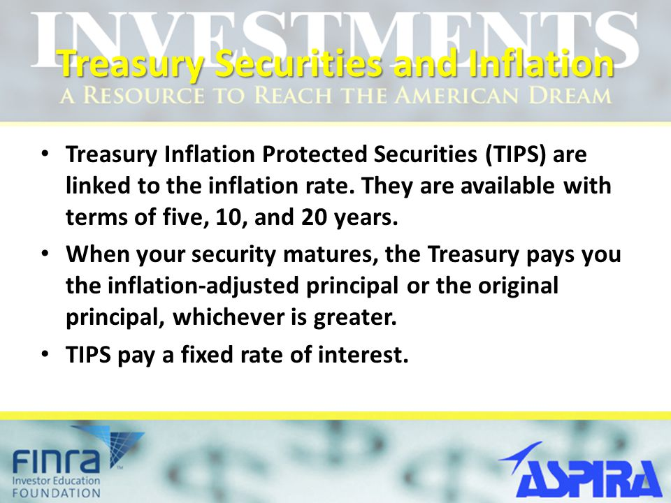 Treasury Securities and Inflation